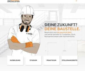 Auszubildende Stuckateur, Trockenbaumonteur, Industriekfm (w/m/d) gesucht