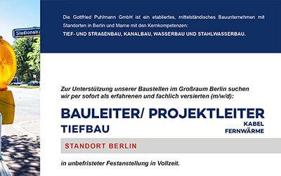 Gottfried Puhlmann: Bauleiter/ Projektleiter gesucht