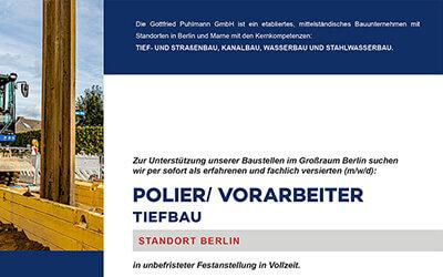 Gottfried Puhlmann: Polier/ Vorarbeiter gesucht