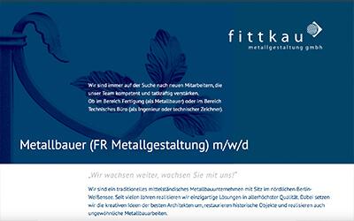 fittkau metallgestaltung gmbh: Metallbauer (m/w/d) gesucht