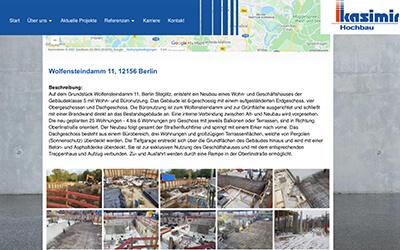 Neues Projekte der Horst Kasimir Bauunternehmung GmbH