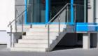 Stahlbetonarbeiten - Die Sichtbetontreppe im Eingangsbereich
